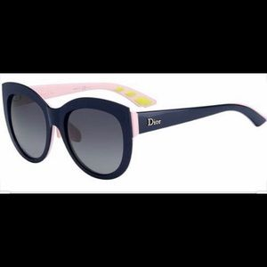 Dior decale 1F sunglasses black round frame